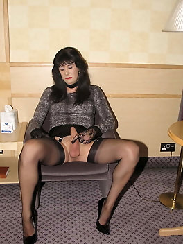 Juiciest tgirl hooker is playing with her toy